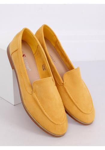 Dámské semišové mokasíny ve žluté barvě