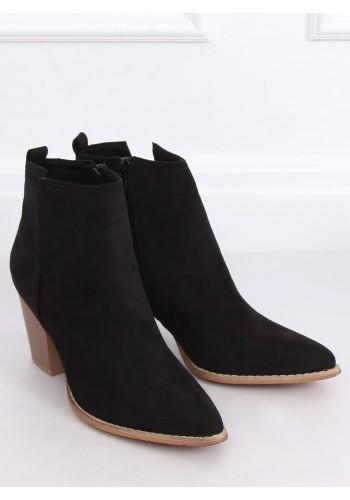 Černé přechodné kovbojky na podpatku pro dámy