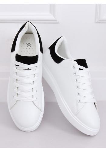 Bílé klasické tenisky s černými vložkami pro dámy