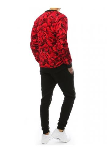 Červeno-černá tepláková souprava s maskáčovým vzorem pro pány