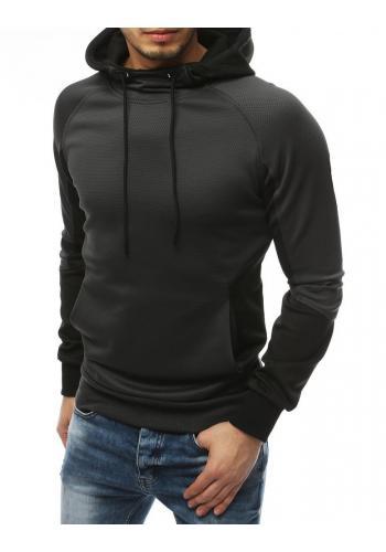 Sportovní pánské mikiny tmavě šedé barvy s kapucí