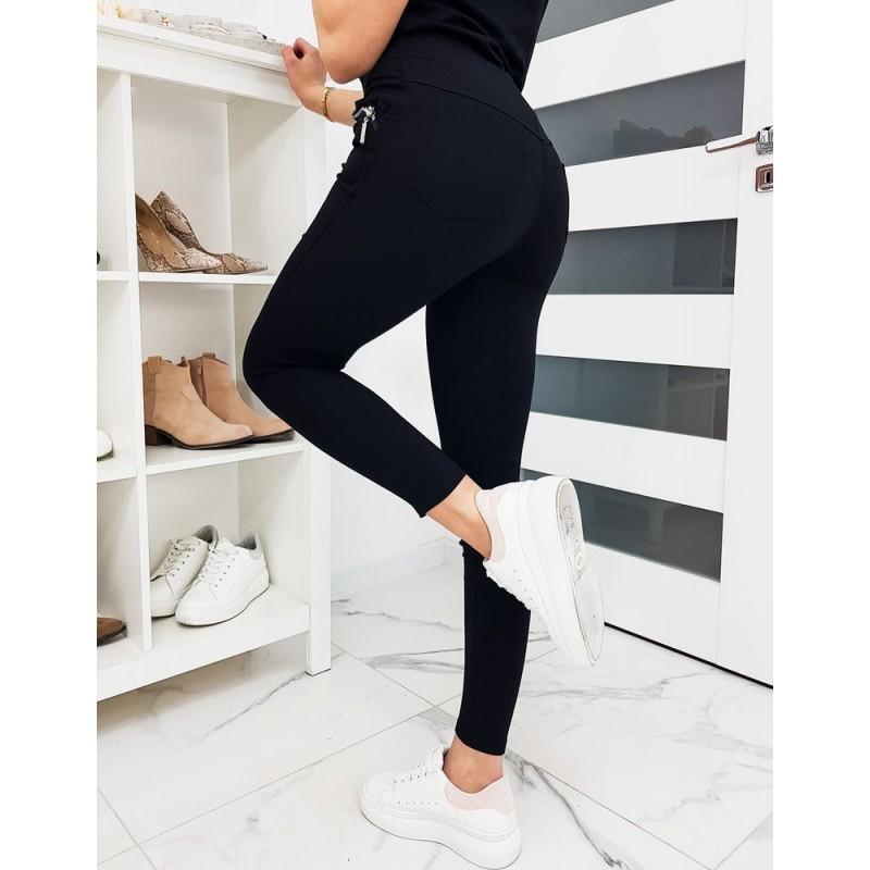 Dámské pohodlné kalhoty v černé barvě