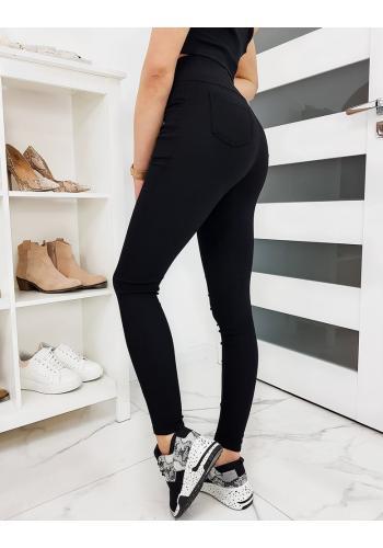 Pohodlné dámské kalhoty černé barvy