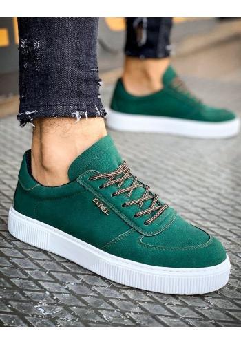 Zelené stylové tenisky pro pány