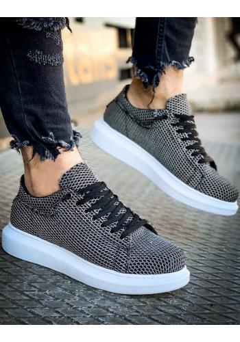 Pánské stylové Sneakersy v černo-bílé barvě