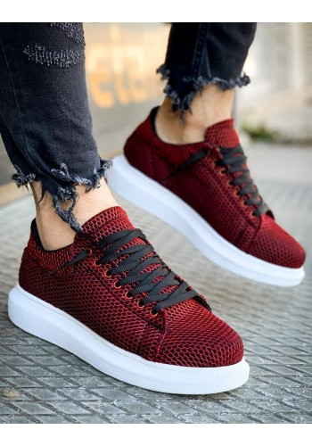 Stylové pánské Sneakersy bordové barvy