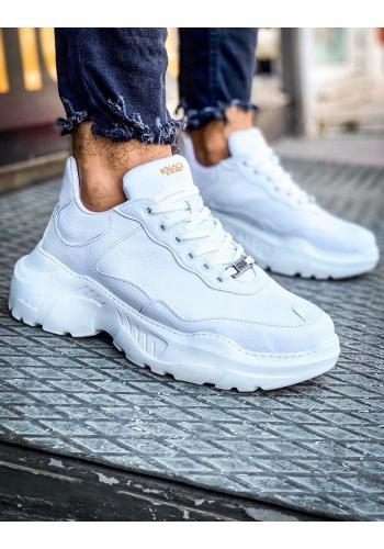Bílé módní Sneakersy na vysoké podrážce pro pány