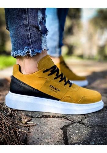 Žluté sportovní Sneakersy na vysoké podrážce pro pány