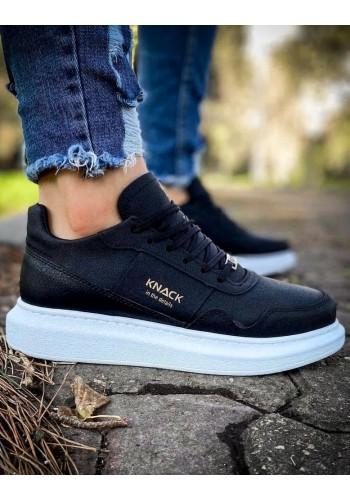 Pánské sportovní Sneakersy na vysoké podrážce v černé barvě