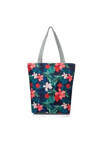 Dámská plážová taška s tropickým motivem