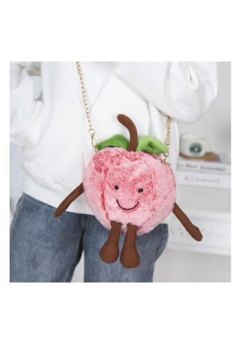 Dámská plyšová kabelka ve tvaru jablka