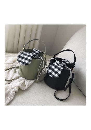 Černá stylová kabelka v podobě košíku pro dámy