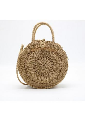 Kulatá proutěná kabelka pro dámy