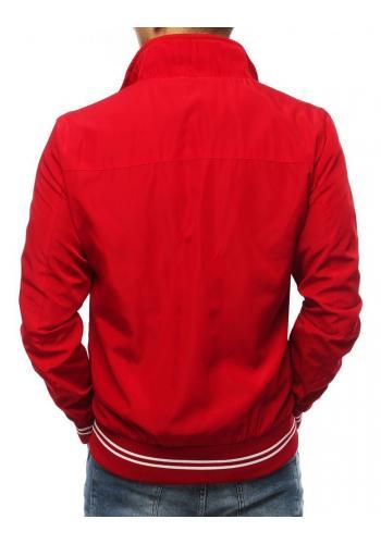 Červená přechodná bunda bez kapuce pro pány