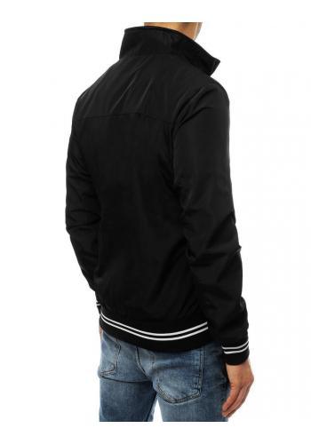 Přechodná pánská bunda černé barvy bez kapuce