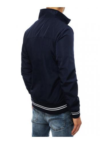 Pánská přechodná bunda bez kapuce v tmavě modré barvě