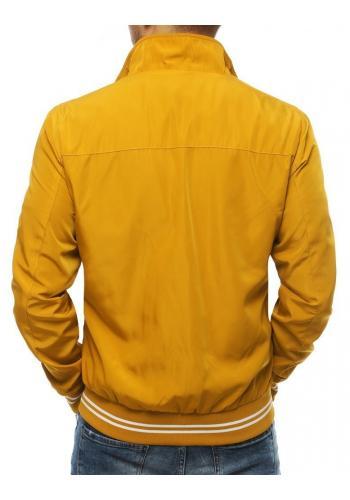 Žlutá přechodná bunda bez kapuce pro pány