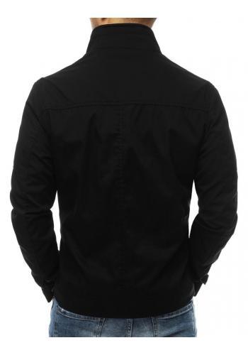 Pánská přechodná bunda bez kapuce v černé barvě