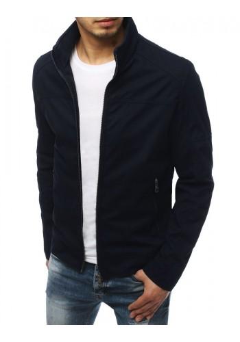 Tmavě modrá přechodná bunda bez kapuce pro pány