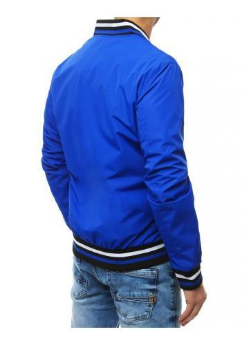 Pánské přechodné bundy bez kapuce v modré barvě