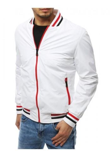 Bílá přechodná bunda bez kapuce pro pány