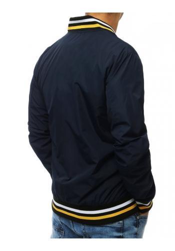 Přechodná pánská bunda tmavě modré barvy bez kapuce