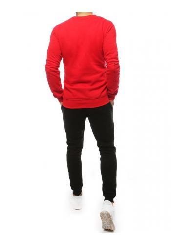 Tepláková pánská souprava červeno-černé barvy s potiskem