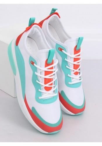 Bílé sportovní tenisky s barevnými doplňky pro dámy