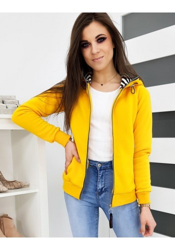 Žlutá sportovní mikina s kapucí pro dámy