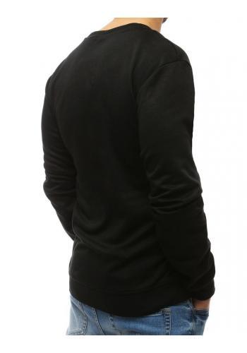 Pánská módní mikina s kontrastními vložkami v černé barvě