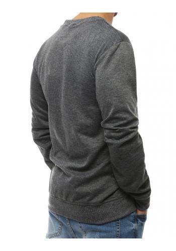 Tmavě šedá módní mikina s kontrastními vložkami pro pány