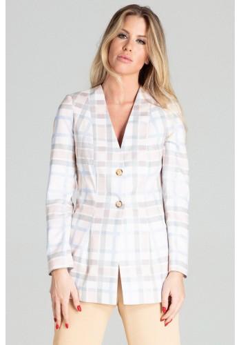Barevné prodloužené sako se vzorem pro dámy