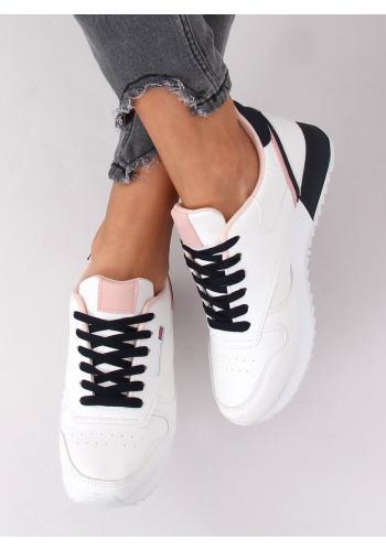 Bílo-růžové sportovní tenisky pro dámy