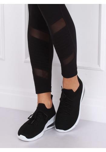 Černé sportovní tenisky na vysoké podrážce pro dámy