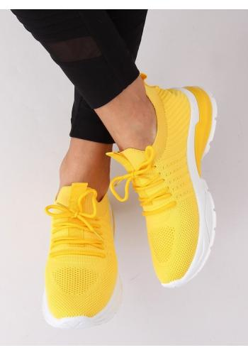 Sportovní dámské tenisky žluté barvy