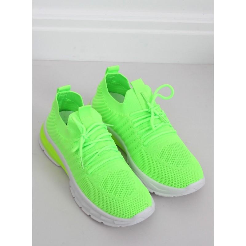 Neonově zelené sportovní tenisky pro dámy