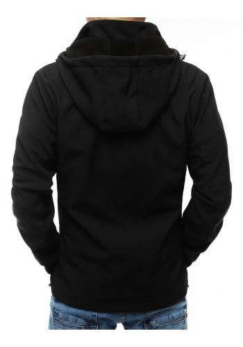 Pánská přechodná bunda s odepínací kapucí v černé barvě
