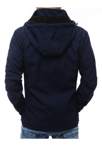 Přechodná pánská bunda tmavě modré barvy s odepínací kapucí