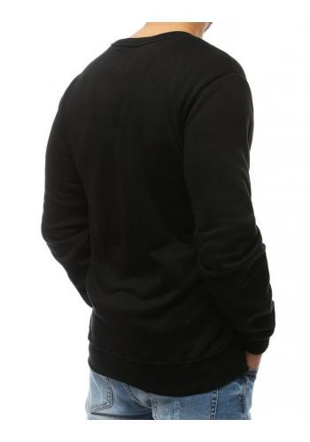Klasická pánská mikina černé barvy s potiskem