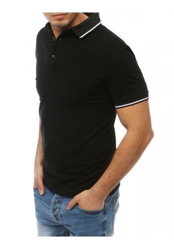 Klasická pánská polokošile černé barvy s třemi knoflíky