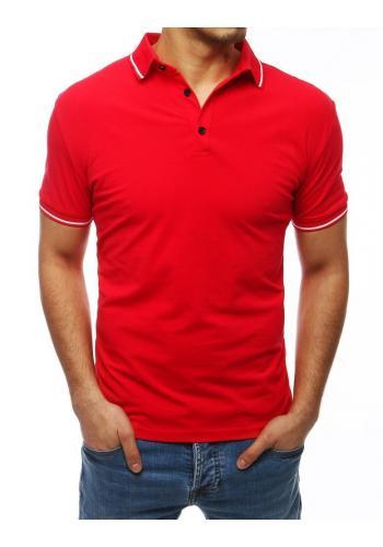 Pánské klasické polokošile s třemi knoflíky v červené barvě