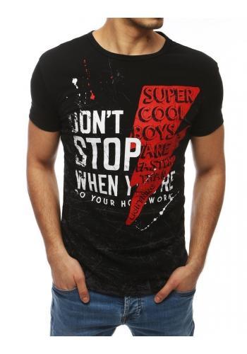 Pánské sportovní trička s potiskem v černé barvě