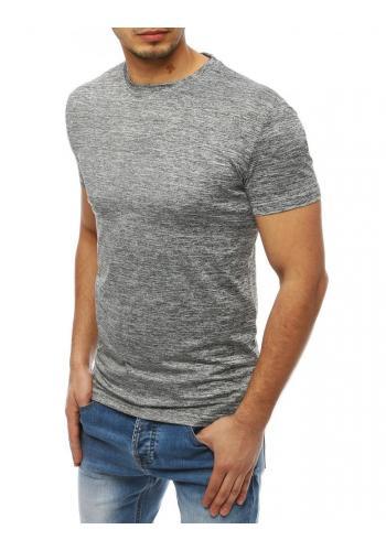 Klasické pánské tričko světle šedé barvy bez potisku