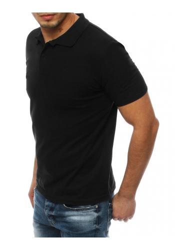 Klasická pánská polokošile černé barvy se dvěma knoflíky