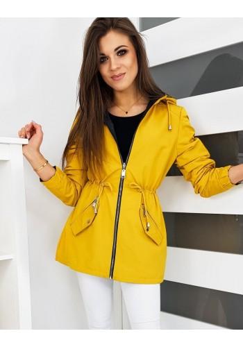 Žlutá oboustranná Parka s kapucí pro dámy