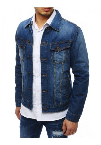 Pánská riflová bunda v modré barvě