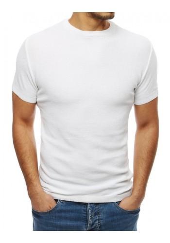 Stylový pánský svetr bílé barvy s krátkým rukávem
