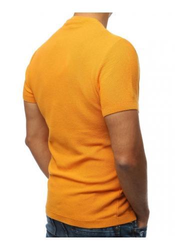 Pánský stylový svetr s krátkým rukávem ve velbloudí barvě