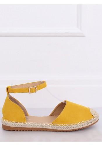 Dámské semišové espadrilky ve žluté barvě