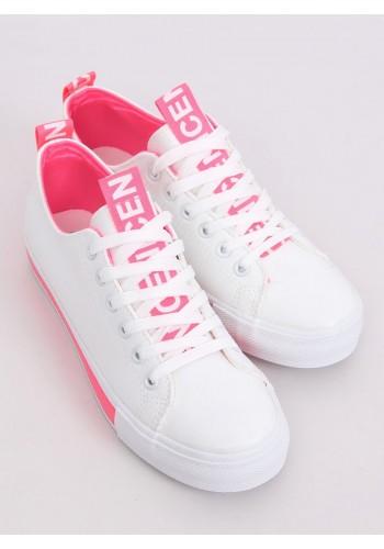 Bílo-růžové klasické tenisky pro dámy
